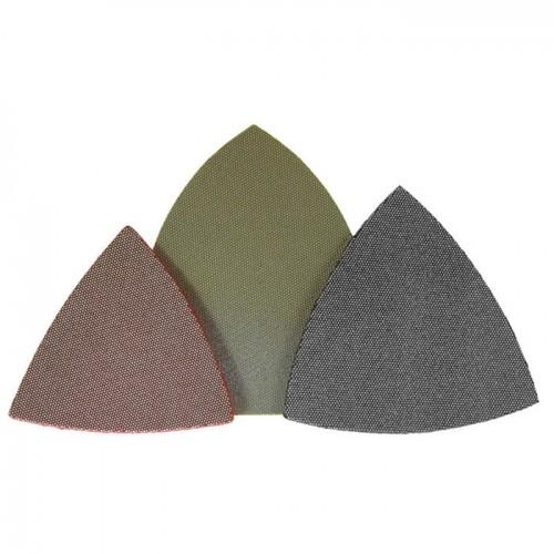 Триъгълна полираща шкурка велкро 80х80х80mm Flexis Fein